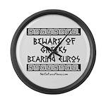 Greeks Bearing Euros Large Wall Clock