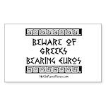 Greeks Bearing Euros Sticker (Rectangle 50 pk)