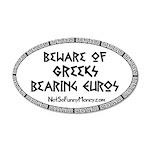 Greeks Bearing Euros 22x14 Oval Wall Peel