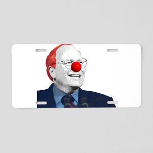Clown Cheney Aluminum License Plate