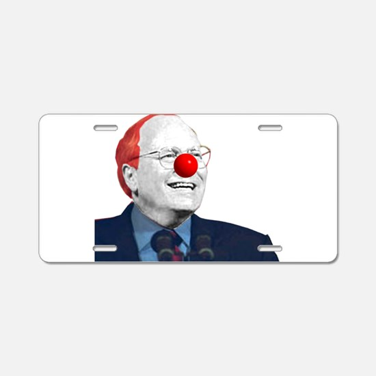 Clown Cheney Aluminum License Plate