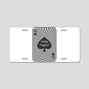 Texas Hold'em Ace Aluminum License Plate