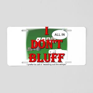Poker Bluffer Aluminum License Plate