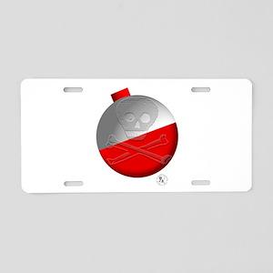 Skull & Crossbones Fishing Aluminum License Plate