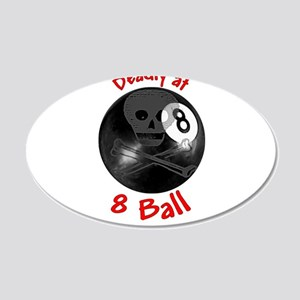 Deadly 8-ball 22x14 Oval Wall Peel