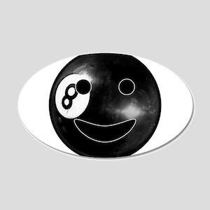 8-ball Smiley 22x14 Oval Wall Peel