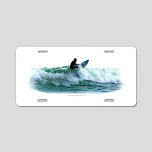 Surfing Wave Aluminum License Plate
