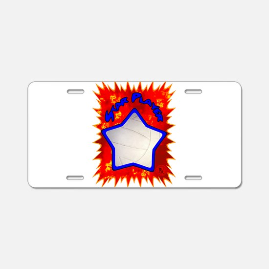 Volleyball Star 1 Aluminum License Plate