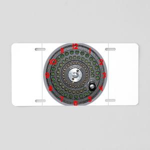 Fishing Time (clocks) Aluminum License Plate