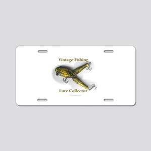 Vintage Lure Collector Aluminum License Plate