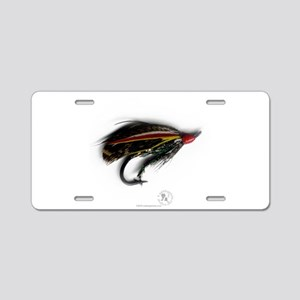 English Salmon Fly Aluminum License Plate