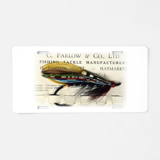Farlow Salmon on Card Aluminum License Plate