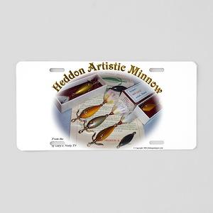 Heddon Artistic Minnow Aluminum License Plate