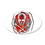 Smoke & Flames Skull 38.5 x 24.5 Oval Wall Peel