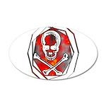 Smoke & Flames Skull 22x14 Oval Wall Peel