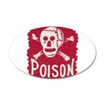 POISON! 38.5 x 24.5 Oval Wall Peel