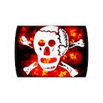 Poison Skull & Flames 38.5 x 24.5 Wall Peel