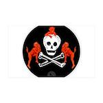 Skull with Devils 38.5 x 24.5 Wall Peel