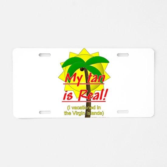 Virgin Islands Vacation Aluminum License Plate