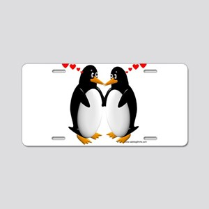 Penguin Lovers Aluminum License Plate