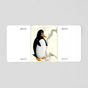 Penguin Antarctica Background Aluminum License Pla