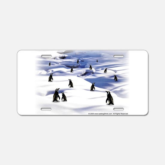Penguin Scene Aluminum License Plate