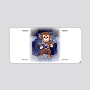 Monkey Watercolor Aluminum License Plate