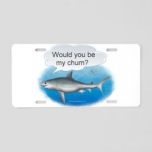 Shark- Be My Chum Aluminum License Plate