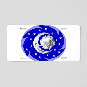 Sun, Moon & Stars Aluminum License Plate