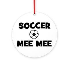 Soccer MeeMee Ornament (Round)