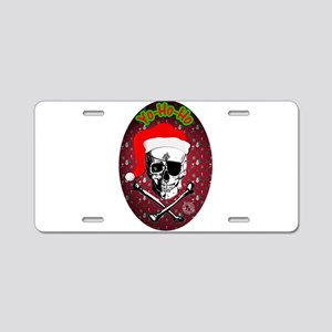 Pirate Christmas Aluminum License Plate