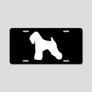 Wheaten Terrier SILHOUETTE Aluminum License Plate