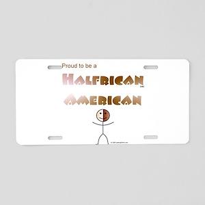 Halfrican American Aluminum License Plate