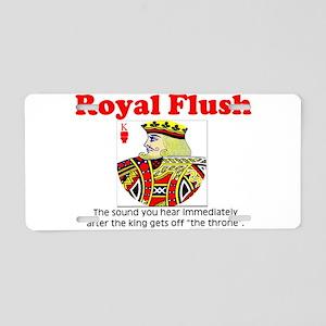Royal Flush Definition Aluminum License Plate