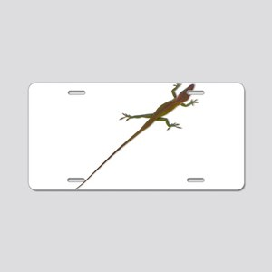 Crawling Lizard Aluminum License Plate