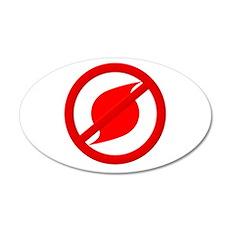 No more Hurricanes 22x14 Oval Wall Peel