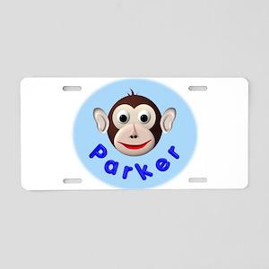 Monkey Parker Aluminum License Plate