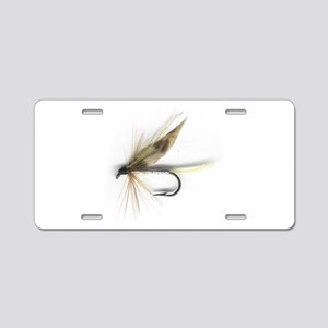 English Wet Fly Aluminum License Plate