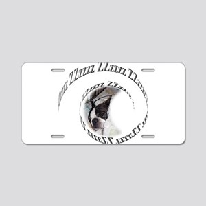 Sleeping Dog ZZzzz Aluminum License Plate