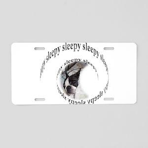 Sleeping dog- Sleepy Aluminum License Plate