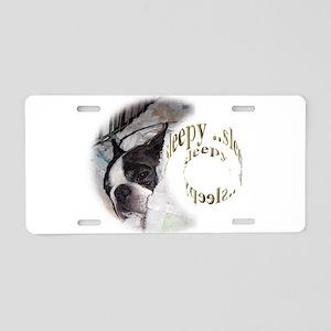 Sleeping Dog- Sleepy 2 Aluminum License Plate