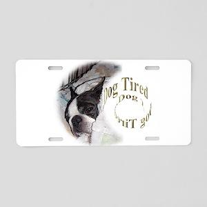 Sleeping Dog- Dog Tired 2 Aluminum License Plate