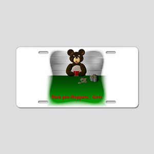 Sports Bear Poker 3 Aluminum License Plate