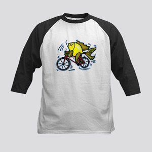 Bicycle Fish Kids Baseball Jersey
