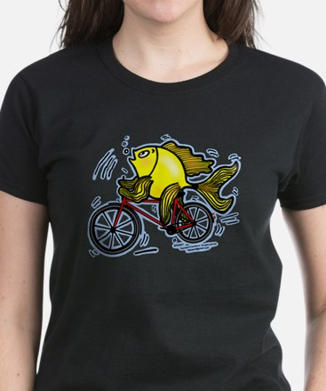 Bicycle Fish Women's Dark T-Shirt