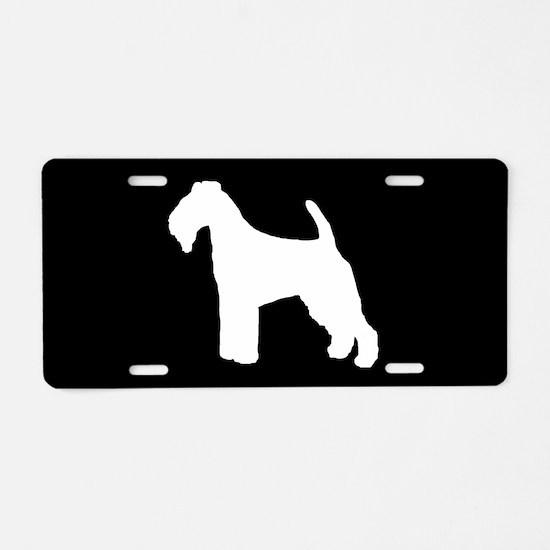 Welsh Terrier SILHOUETTE Aluminum License Plate