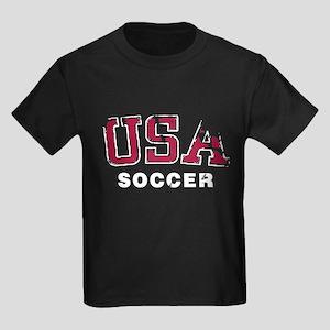 USA Soccer Team Kids Dark T-Shirt