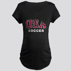 USA Soccer Team Maternity Dark T-Shirt