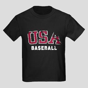 USA Baseball Team Kids Dark T-Shirt