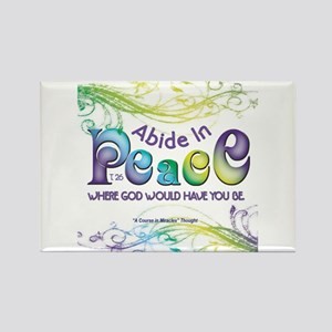 ACIM-Abide in Peace Rectangle Magnet
